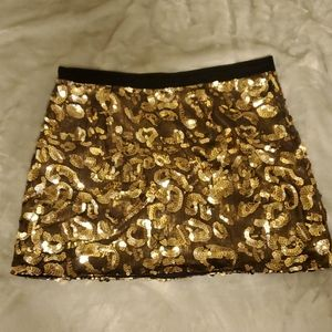 'Guess by Marciano' Gold sequins mini skirt
